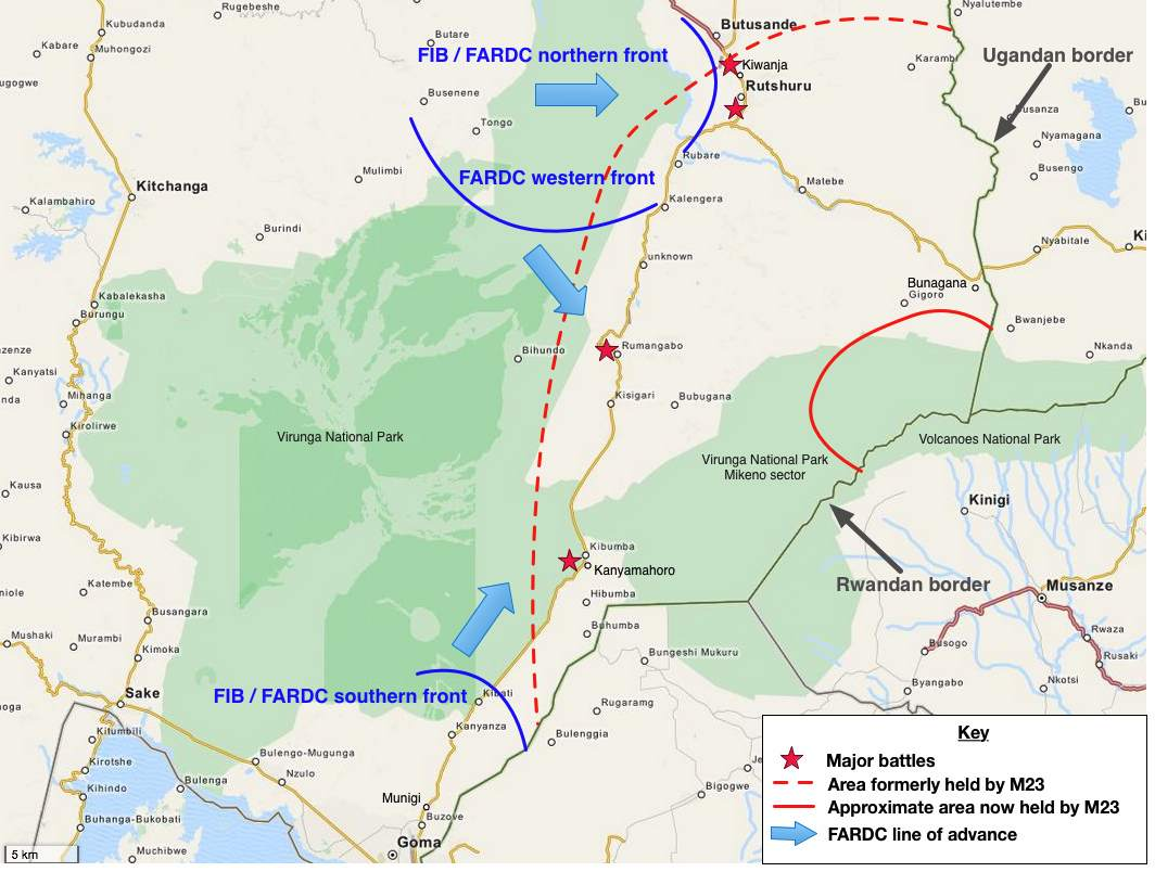 Carte offensive FARDC octobre 2013