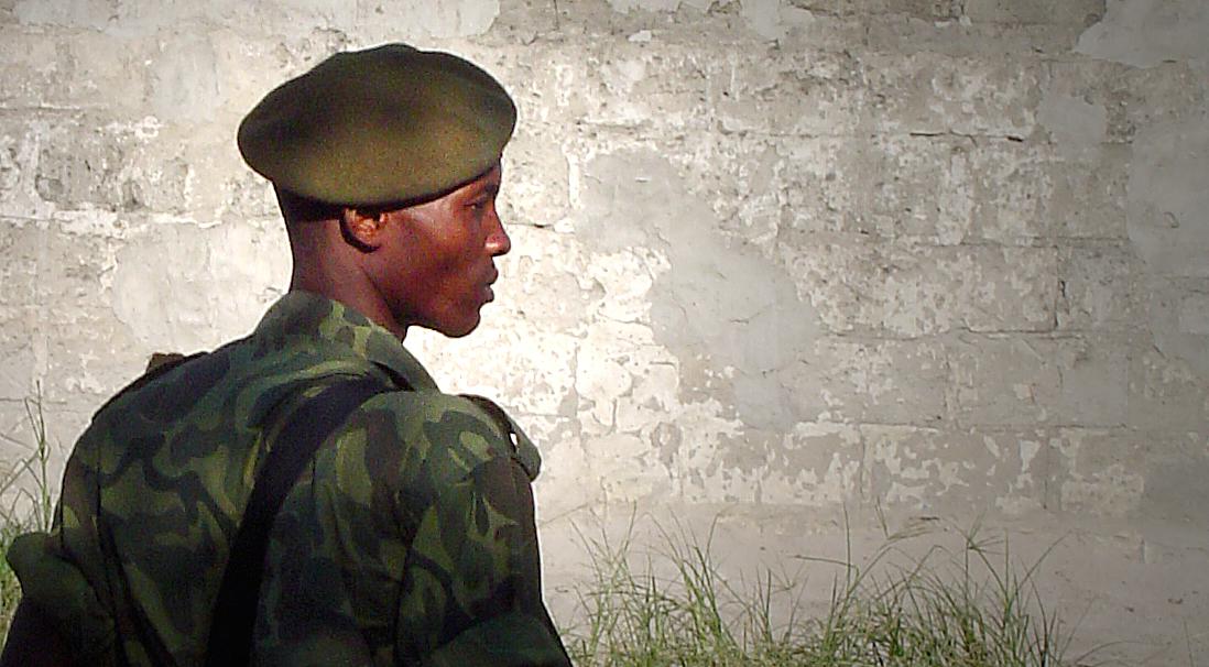 Milicien du MLC en 2006 à Kinshasa