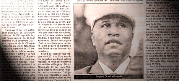 Diomi Ndongala une 1