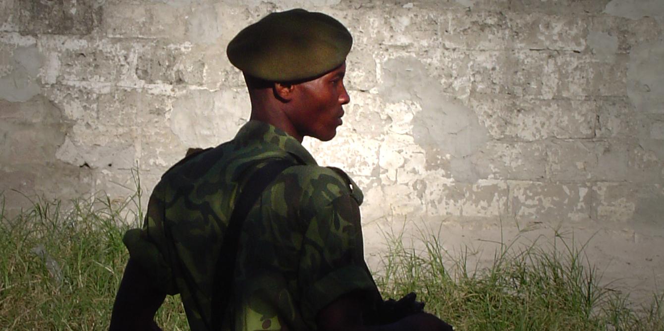 soldat contre-jour