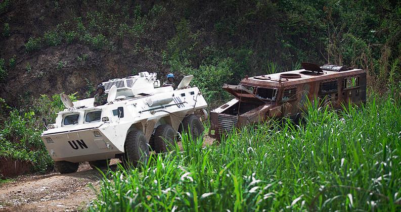 La Monusco en 2014 pendant une opération anti-ADF