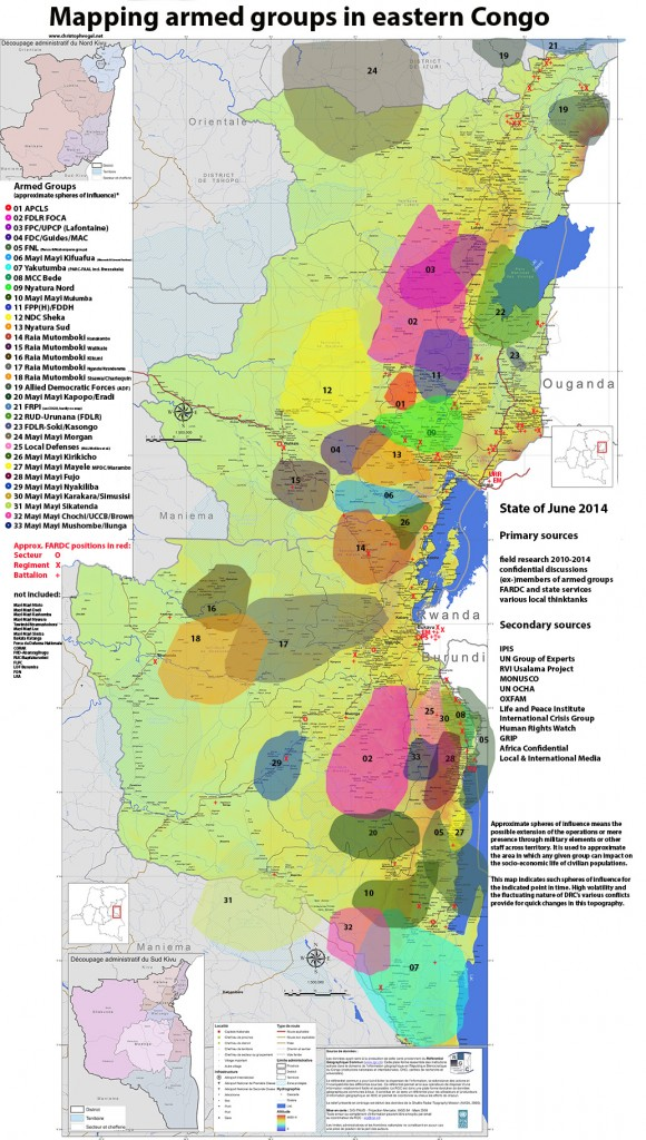 mapping groupes armés-juin 2014