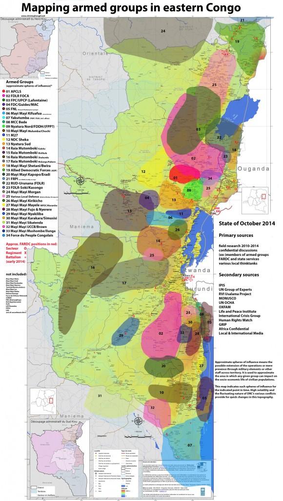 mapping groupes armés-octobre 2014