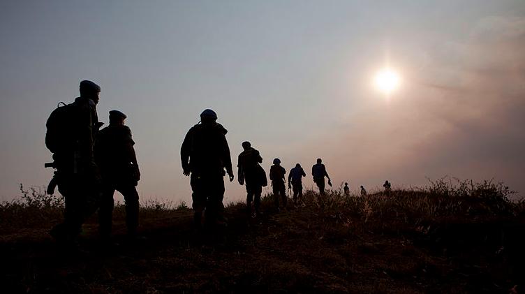 Soldats de la Monusco pendant la traque contre le M23 en juillet 2013