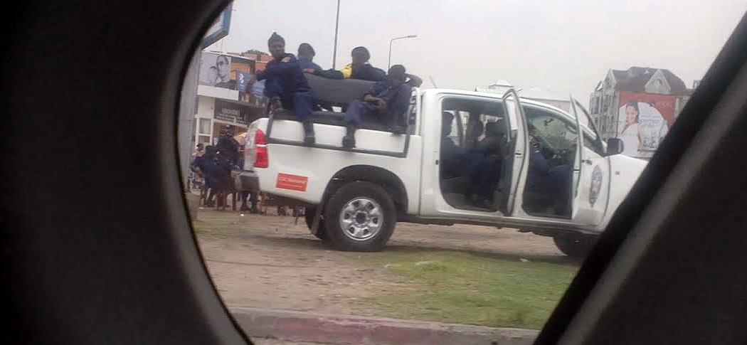 Police congolaise à la manifestation du 12 janvier 2015