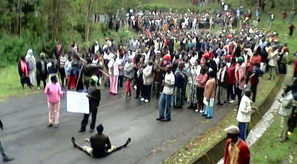 Manifestation anti-Nkunrunziza dans le fief du pdt 2015