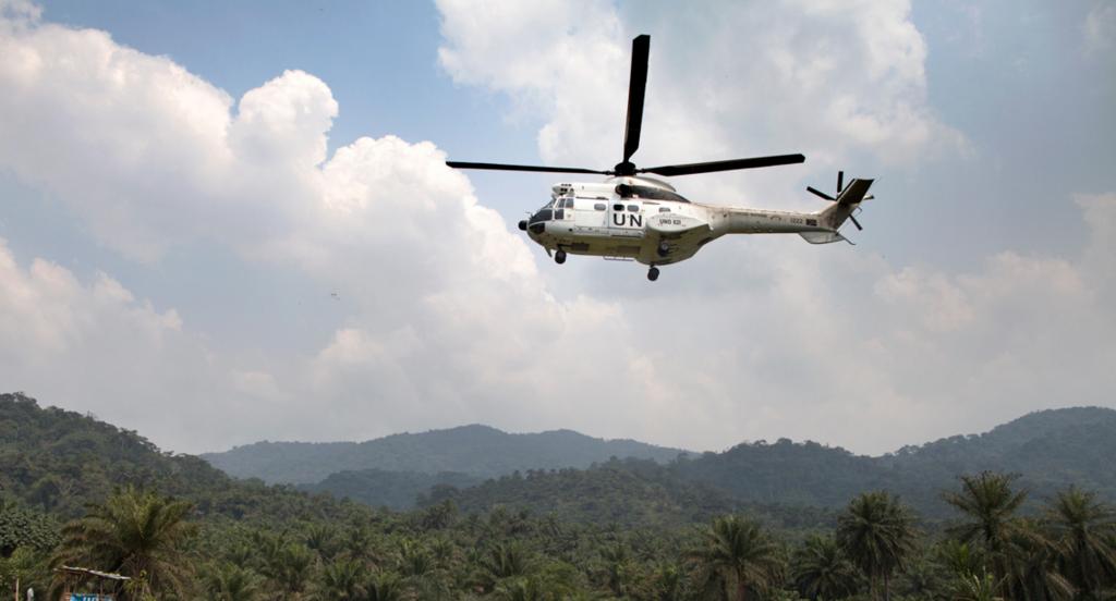 Héicoptère de la Monusco en 2012 pendant la lutte contre les FDLR MONUSCO Sylvain Liechti