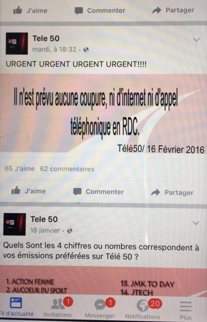 Facebook Télé50