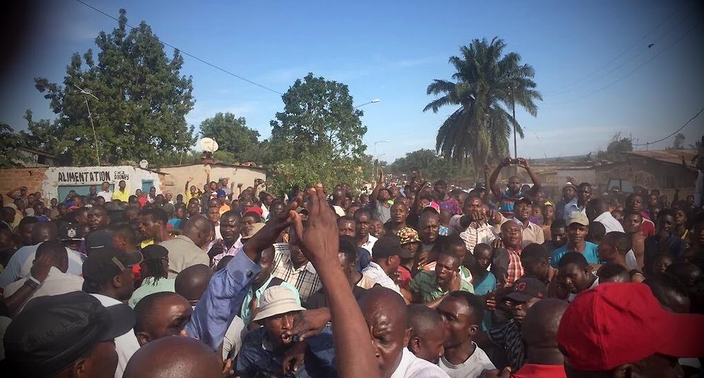 Manifestation Lubumbashi 24042015abel august amundala 2 copie