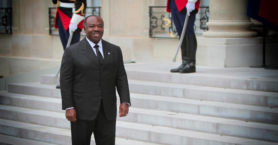 Ali Bongo à l'Elysée © DR